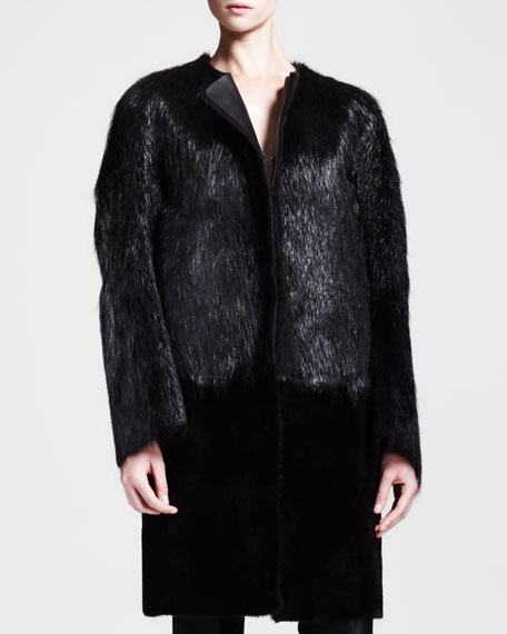 Portico Leather-Lined Fur Jacket