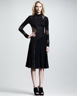 Proenza Schouler Long-Sleeve Pieced Dress