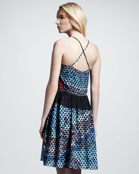 Printed Silk Cami Dress