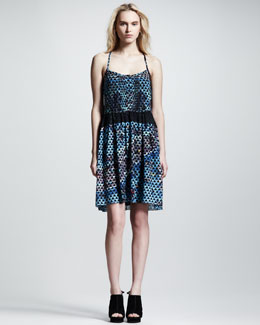 Proenza Schouler Printed Silk Cami Dress
