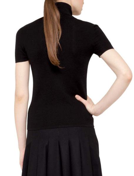 Knit Polo-Collar Pullover