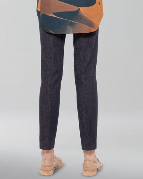 Stretch Denim Ankle Pants
