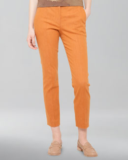 Akris Stretch Denim Pants, Sunset