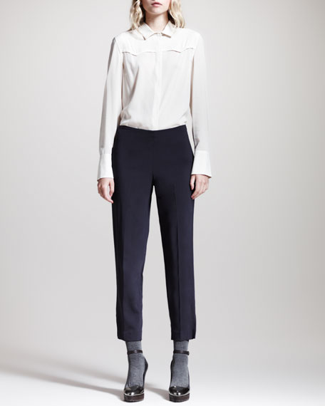 Relaxed Cropped Side-Zip Pants