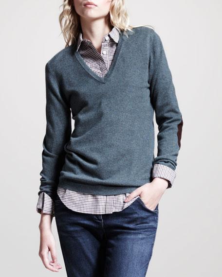 Basic Cashmere V-Neck Pullover