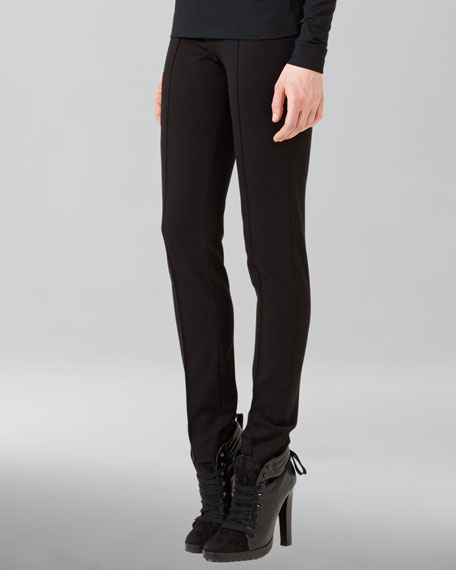 Full-Length Jersey Pants, Black