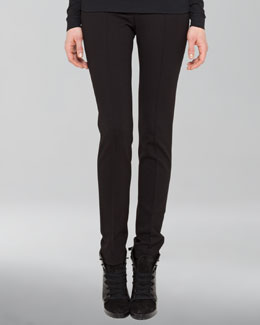 Akris punto Full-Length Jersey Pants, Black