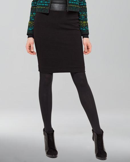 Jersey Pencil Skirt, Black