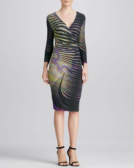 Ruch-Waist 3/4-Sleeve Dress