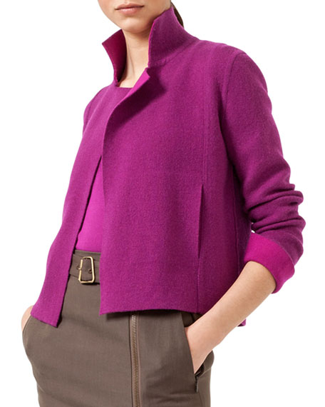 Reversible Short Cashmere Cardigan