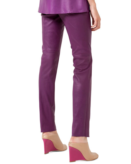 pant, nappa leather stretch,