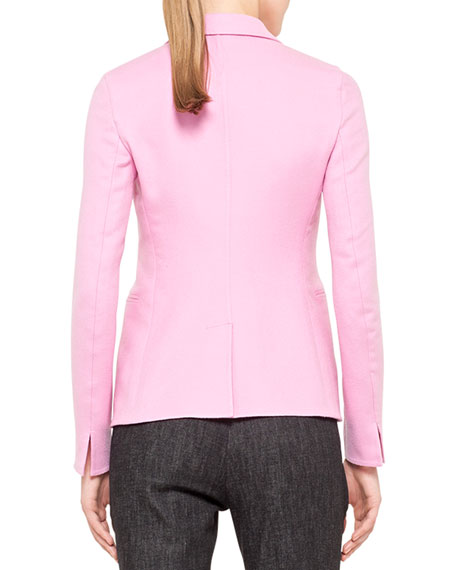 Single-Button Cashmere Blazer