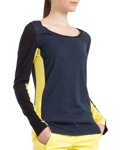 Long-Sleeve Colorblock Sweater