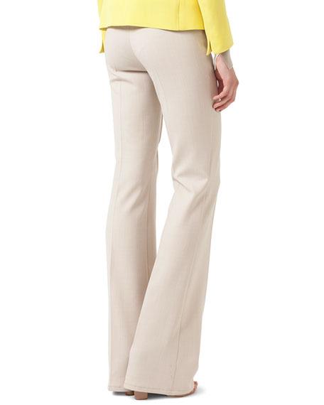 Faye Boot-Cut Stretch-Wool Pants