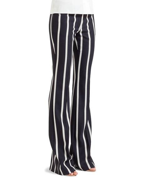 Vertically striped full leng