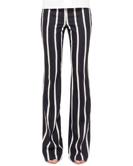 Akris punto Striped Boot-Cut Pants