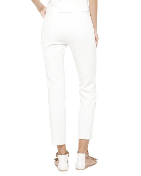 Franca Side-Zip Ankle Pants
