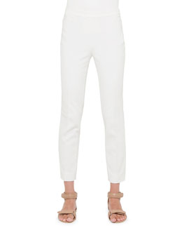Akris punto Franca Side-Zip Ankle Pants