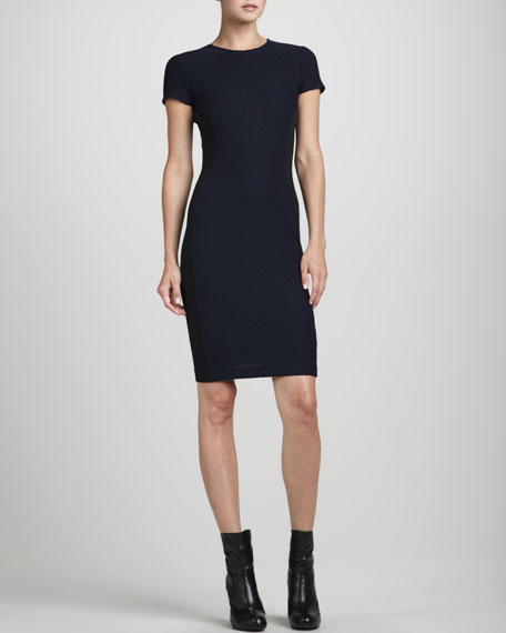 Short-Sleeve Side-Panel Dress