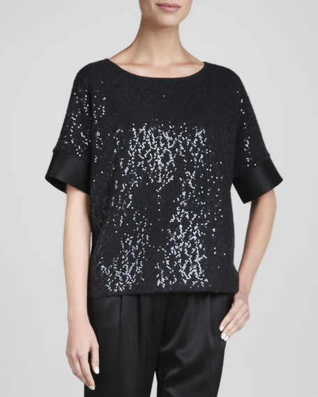 Sequined Top, Caviar