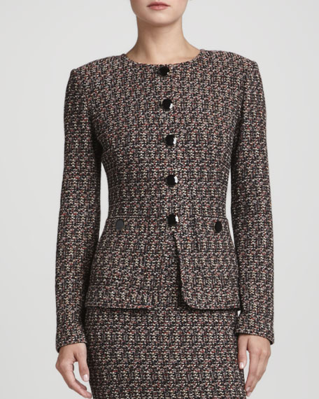 Tweed Novelty-Button Jacket