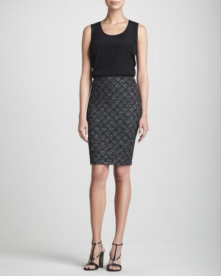 Patterned Skirt, Caviar/Multi