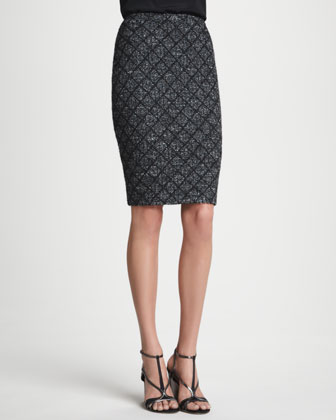 Patterned Skirt, Caviar/Multi