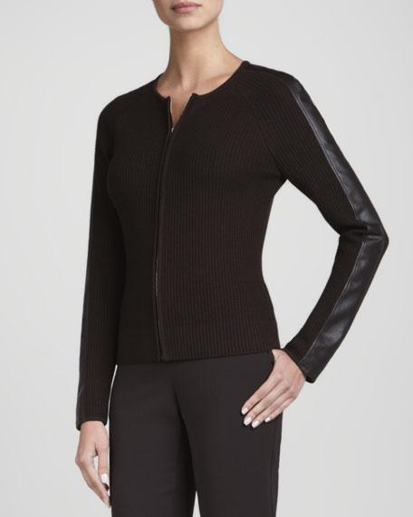 Long-Sleeve Zip Jacket, Mahogany