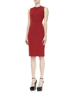 Burberry London Sleeveless Sheath Dress, Red