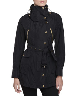 Burberry London Technical Taffeta Jacket, Black