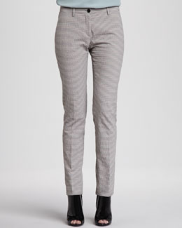 Burberry London Seersucker Straight-Leg Trousers