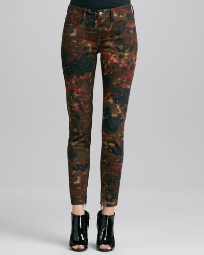 Burberry Brit Floral-Camo Skinny Jeans