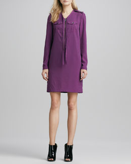 Burberry Brit Zip-Front Shift Dress