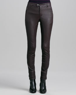 Burberry Brit Paneled Leather Leggings