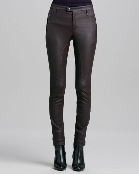 Paneled Leather Leggings