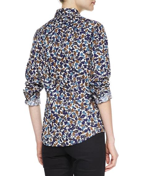 Woven Floral-Print Shirt