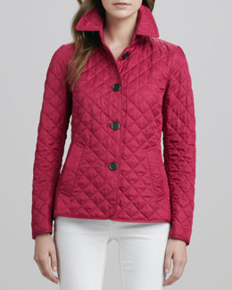 Burberry Brit Quilted Band-Back Jacket