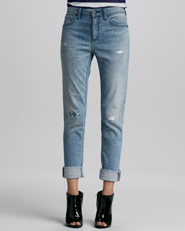 Burberry Brit Distressed Straight-Leg Jeans