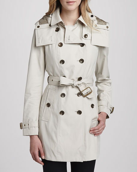 Burberry Brit Trenchcoat With Removable Warmer Neiman Marcus
