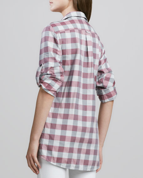 Buffalo-Check Tab-Sleeve Shirt
