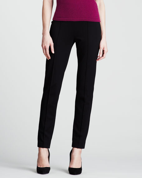 Dondi Jersey Side-Zip Pants, Black