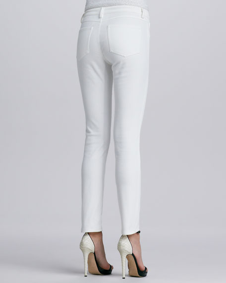 Five-Pocket Skinny Jeans, White