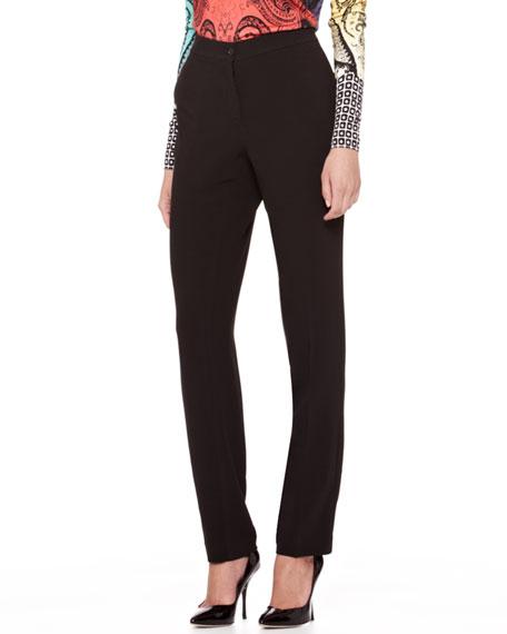 Straight-Leg Cady Pants