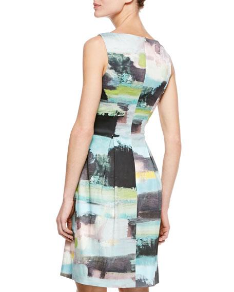 Bateau Tucked-Waist Dress