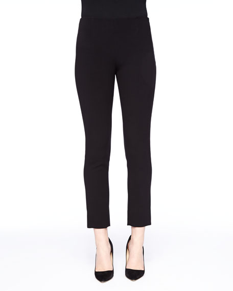 Lela Rose Catherine Cropped Pants, Black