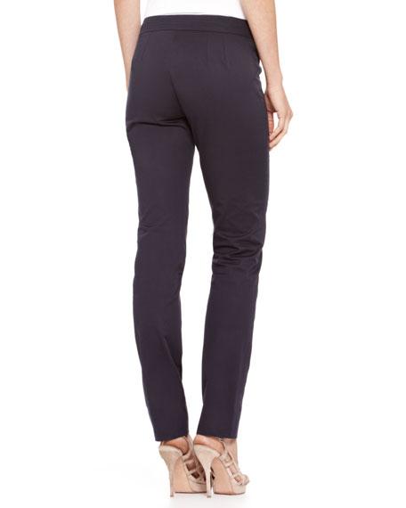 Straight-Leg Stretch Cotton Pants