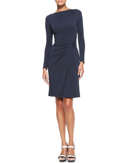 Armani Collezioni Gathered-Side Jersey Dress