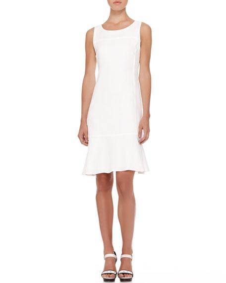 Sleeveless Linen Flare-Hem Dress