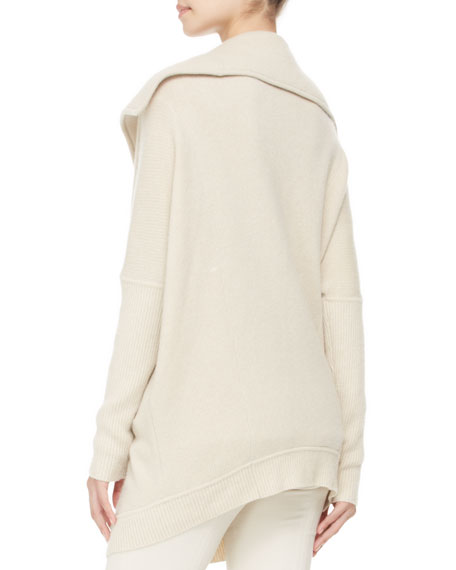 Oversized Cashmere Zip Coat