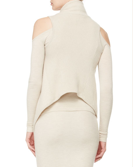 Asymmetric Cashmere Vest